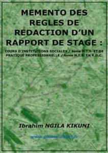 Memento des règles de rédaction d'un rapport de stage