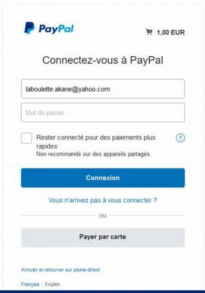 Arrivée sur Paypal